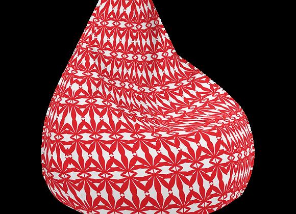 Red & White Bean Bag