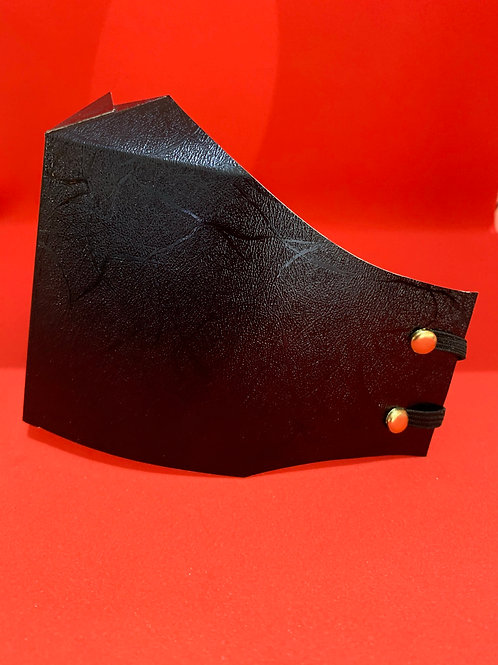 Faux Leather Face Masks