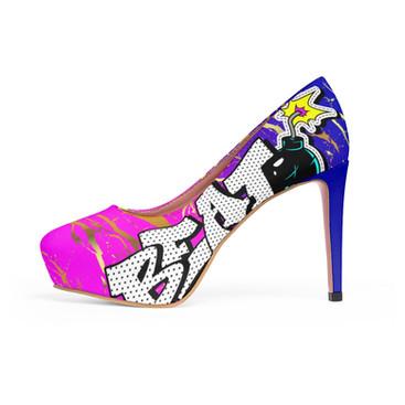 The beat bombshell platform heels