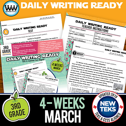 3rd Grade March Daily Language Review