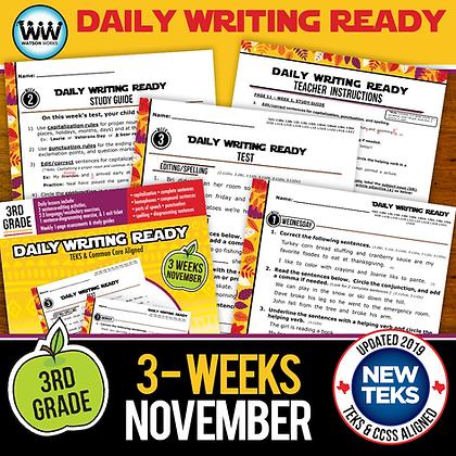 3rd Grade November Daily Language Review