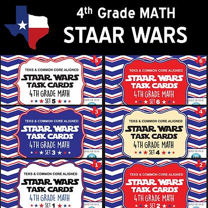 4th Grade - STAAR Wars Math Bundle