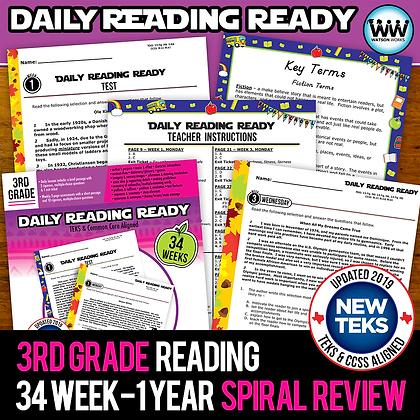 3rd Grade - Daily Reading Ready® Year Long Bundle