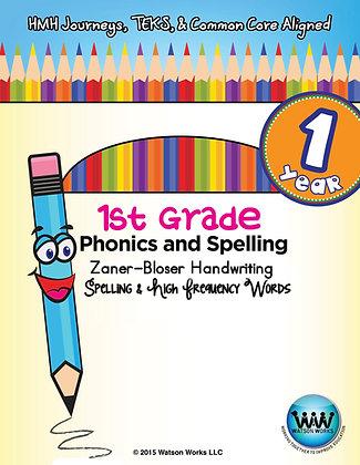 1st Grade Phonics Year Long Bundle Zaner-Bloser