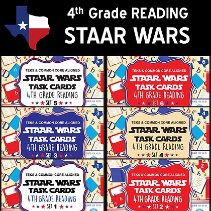 4th Grade - STAAR Wars Reading Bundle