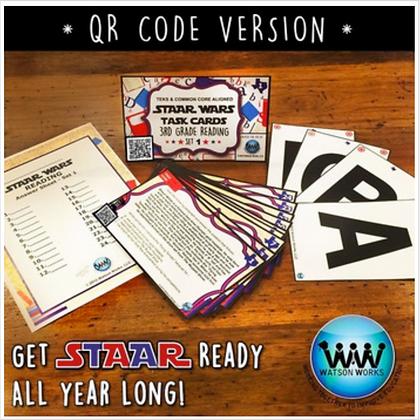 QR Version Set 1- 3rd Grade STAAR Wars Reading