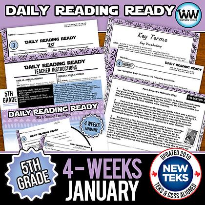 5th Grade Daily Reading Ready® - JANUARY