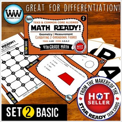 4th Grade Math Ready® Task Cards – Classifying 2-Dimensional Figures