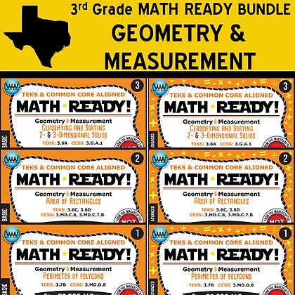 3rd Grade - Math Ready© Geometry Bundle