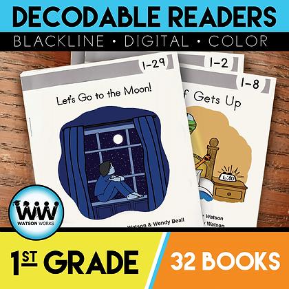 1st Grade Decodable Readers - 32 Books