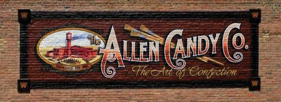Allen Candy Co Mural