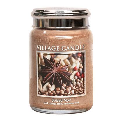 VILLAGE CANDLE SPICED NOIR LARGE JAR CANDLE