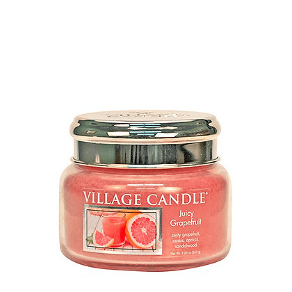 VILLAGE CANDLE JUICY GRAPEFRUIT SMALL JAR CANDLE