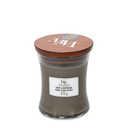 WOODWICK  SAND & DRIFTWOOD MEDIUM HOURGLASS CANDLE WITH PLUSWICK®