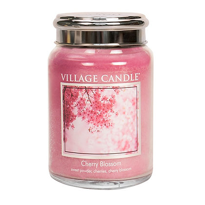 VILLAGE CANDLE CHERRY BLOSSOM LARGE JAR CANDLE