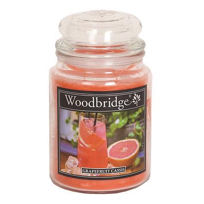 WOODBRIDGE GRAPEFRUIT CASSIS LARGE SCENTED CANDLE JAR
