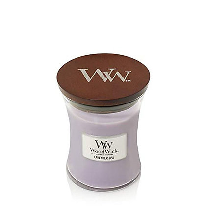 WOODWICK LAVENDER SPA MEDIUM HOURGLASS CANDLE WITH PLUSWICK®