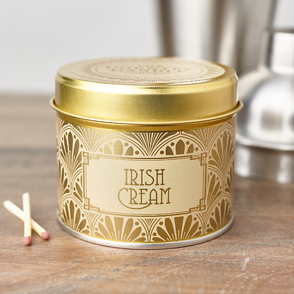 HAPPY HOUR IRISH CREAM TIN CANDLE