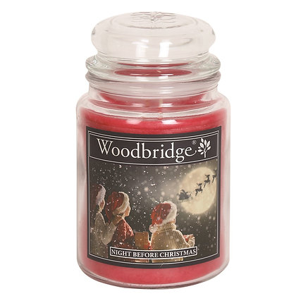 WOODBRIDGE NIGHT BEFORE CHRISTMAS LARGE SCENTED CANDLE JAR