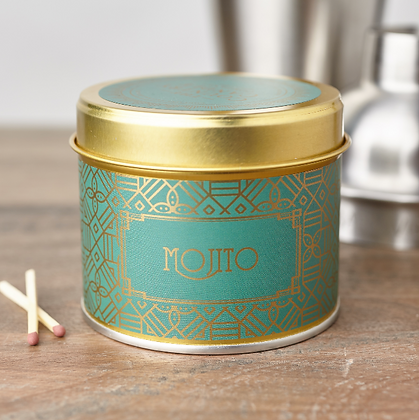 HAPPY HOUR MOJITO TIN CANDLE