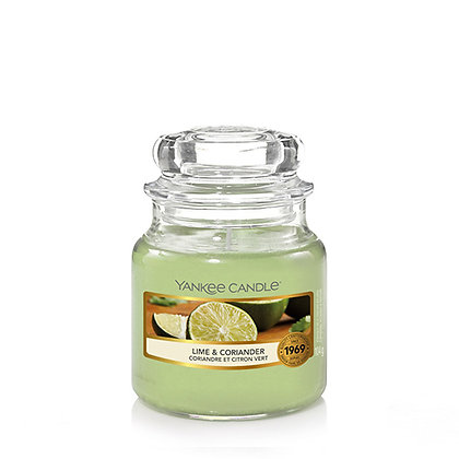YANKEE CANDLE LIME & CORIANDER SMALL JAR CANDLE
