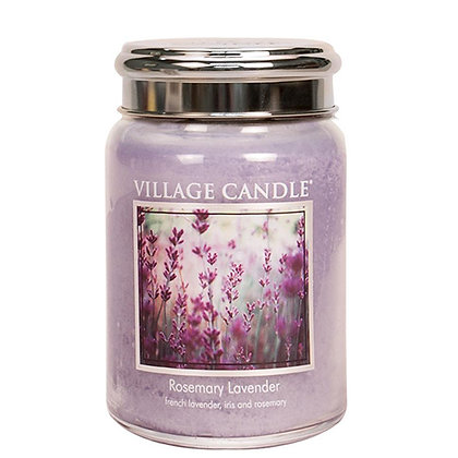 VILLAGE CANDLE ROSEMARY LAVENDER LARGE JAR CANDLE