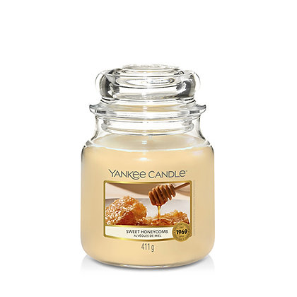 YANKEE CANDLE SWEET HONEYCOMBE MEDIUM JAR CANDLE