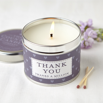 SENTIMENT THANK YOU TIN CANDLE