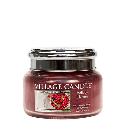 VILLAGE CANDLE HOLIDAY CHUTNEY SMALL JAR CANDLE