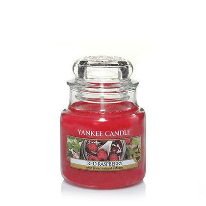 YANKEE CANDLE RED RASPBERRY SMALL JAR CANDLE