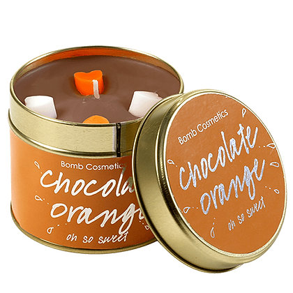 BOMB COSMETICS CHOCOLATE ORANGE TIN CANDLE