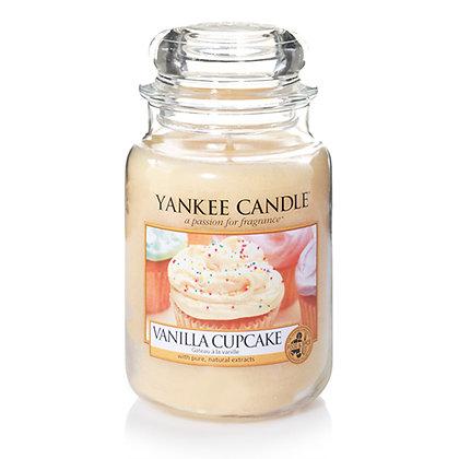 YANKEE CANDLE VANILLA CUPCAKE LARGE JAR CANDLE