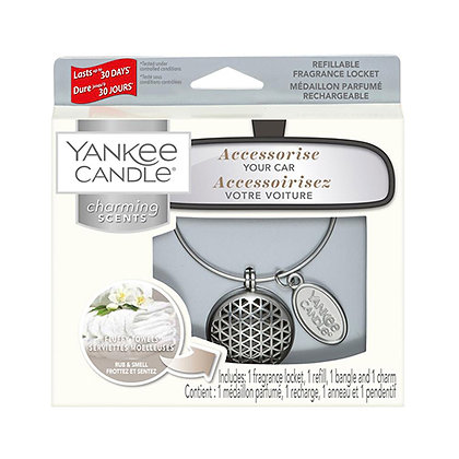 YANKEE CANDLE FLUFFY TOWELS ELLIPSE CHARMING SCENT STARTER KIT