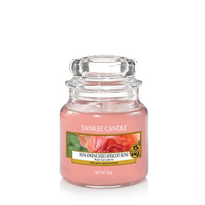 YANKEE CANDLE SUN-DRENCHED APRICOT ROSE SMALL JAR CANDLE
