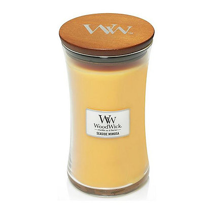 WOODWICK SEASIDE MIMOSA LARGE HOURGLASS CANDLE WITH PLUSWICK®