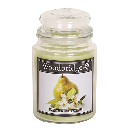 WOODBRIDGE ENGLISH PEAR & FREESIA LARGE SCENTED CANDLE JAR
