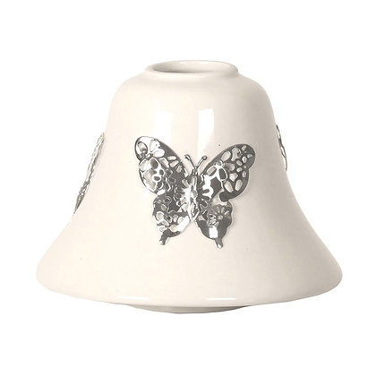 AROMA WHITE BUTTERFLY CANDLE SHADE