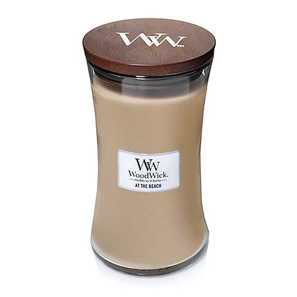 WOODWICK AT THE BEACH LARGE HOURGLASS CANDLE WITH PLUSWICK®