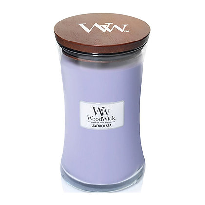 WOODWICK LAVENDER SPA LARGE HOURGLASS CANDLE WITH PLUSWICK®