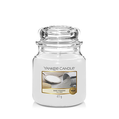 YANKEE CANDLE BABY POWDER MEDIUM JAR CANDLE