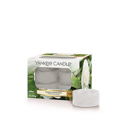 YANKEE CANDLE CAMELLIA BLOSSOM TEA LIGHT CANDLES