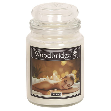 WOODBRIDGE SPA DAY LARGE SCENTED CANDLE JAR
