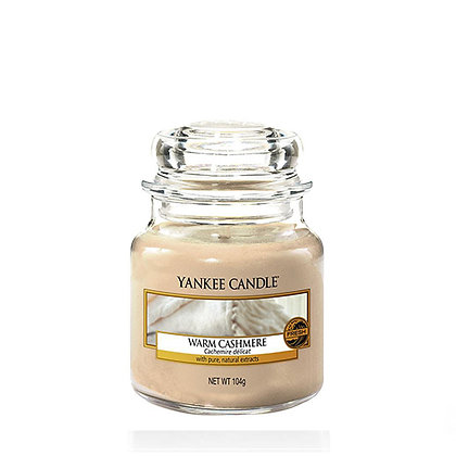 YANKEE CANDLE WARM CASHMERE SMALL JAR CANDLE