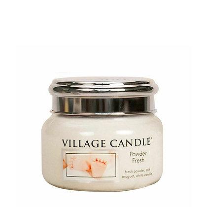 VILLAGE CANDLE POWDER FRESH SMALL JAR CANDLE