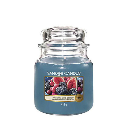 YANKEE CANDLE MULBERRY & FIG MEDIUM JAR CANDLE