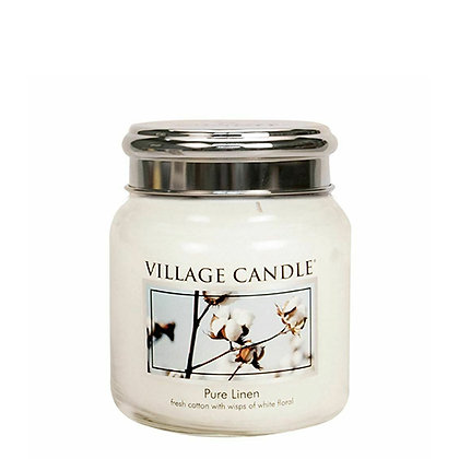 VILLAGE CANDLE PURE LINEN MEDIUM JAR CANDLE