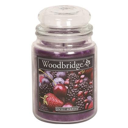 WOODBRIDGE SWEET BERRIES LARGE SCENTED CANDLE JAR