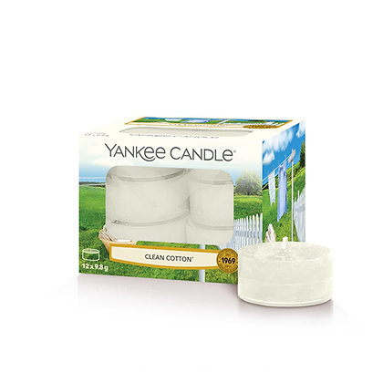 YANKEE CANDLE CLEAN COTTON TEA LIGHT CANDLES