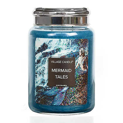 VILLAGE CANDLE MERMAID TALES LARGE JAR CANDLE