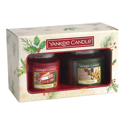 YANKE CANDLE 2 MEDIUM JAR CANDLE GIFT SET